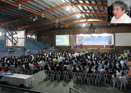 Students and teachers from the various schools in Pangasinan attend the 1st OMB-Luzon Campus Integrity Crusaders'(CIC) Congress last January 24 at the City People's Astrodome in Dagupan City. The program initiated by the Office of the Ombudsman  aims to promote a culture of integrity by making each student a person of integrity, said Overall Deputy Ombudsman Melchor Arthur Carandang(inset) in an interview after his keynote speech.CESAR RAMIREZ