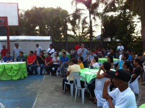 Calasiao Mayor Mark Roy Macanlalay exhorted the village  chiefs and council members of Binmaley town at his residence.