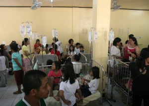 GET POISONED. More than a hundred students from the Guelew Integrated School in San Carlos City were rushed to the Pangasinan Provincial Hospital(PPH) based in the said city when they felt stomach pain last July 2 after they chewed chewing gums.CESAR RAMIREZ