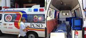 AMBULANCE FOR ALAMINIANS. The new ambulance donated by the Philippine Charity Sweepstakes Office (PCSO) to Alaminos City was blessed on Tuesday. The PCSO Ambulance Donation Program grants ambulance units to hospitals, health institutions, municipalities/provinces and city health offices in different priority areas in pursuit of its mandate of providing medical and charitable services nationwide. (photo by April Montes/PIA-1, Pangasinan)