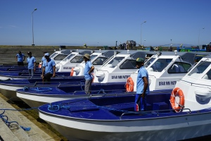 These are the patrol boats to be used by the Bureau of Fisheries and Aquatic Resources to patrol the West Philippine Sea and the Lingayen Gulf against illegal fishing activities.
